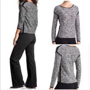 Athleta Retreat Marlee Sweater Black White Large